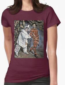 Paul Cezanne - Pierrot And Harlequin  Womens Fitted T-Shirt