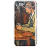 Paul Cezanne - Les Joueurs De Cartes - Players in cards iPhone Case/Skin