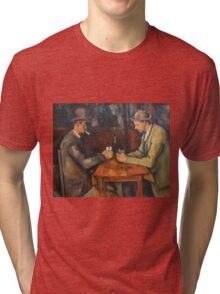 Paul Cezanne - Les Joueurs De Cartes - Players in cards Tri-blend T-Shirt