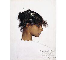 John Singer Sargent - Head Of A Capri Girl  Photographic Print