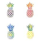 Colorful Pineapple Set by kay-la-vie