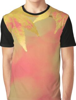 Warm Soft Red Golden Yellow Autumn Maple Leaves Graphic T-Shirt