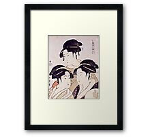 Kitagawa Utamaro  -  Three Beauties Of The Present Day  Framed Print