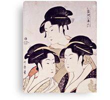 Kitagawa Utamaro  -  Three Beauties Of The Present Day  Canvas Print