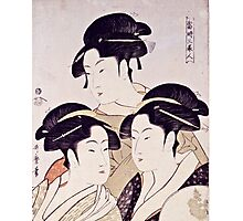 Kitagawa Utamaro  -  Three Beauties Of The Present Day  Photographic Print