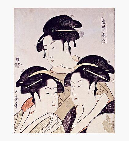 Kitagawa Utamaro  -  Three Beauties Of The Present Day  Photographic Print