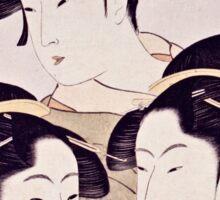 Kitagawa Utamaro  -  Three Beauties Of The Present Day  Sticker