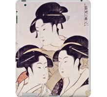 Kitagawa Utamaro  -  Three Beauties Of The Present Day  iPad Case/Skin