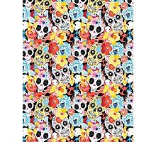 Cool pattern funny skulls Photographic Print