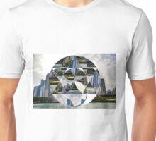 Geometric Chicago Skyline Unisex T-Shirt