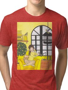 Lemon Yellow Tri-blend T-Shirt