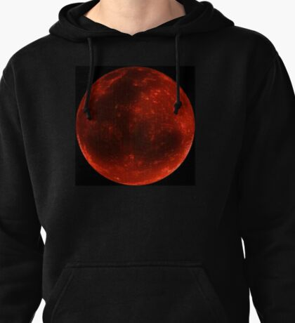Blood Moon on Fire  Pullover Hoodie