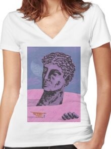 Space Rome Women's Fitted V-Neck T-Shirt