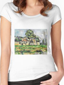 Paul Cezanne - Banks of the Marne (circa 1888)  Women's Fitted Scoop T-Shirt