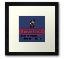 Benintendi Entertainment System - Red Sox Framed Print