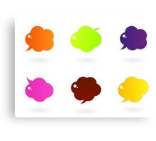 Vector speech glossy bubbles collection Canvas Print
