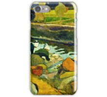 Paul Gauguin - Washerwomen (1888)  iPhone Case/Skin