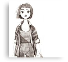 Cute Sketch Girl Canvas Print