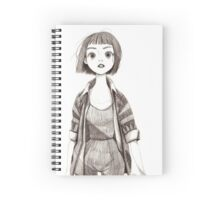 Cute Sketch Girl Spiral Notebook