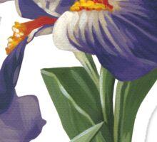 Fleur-de-lis - acrylic painting Sticker