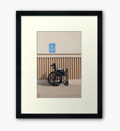 Handicapped Parking Framed Print