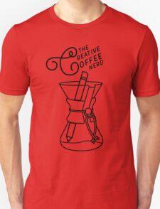 The Creative Coffee Nerd Logo Unisex T-Shirt