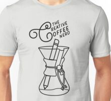 The Creative Coffee Nerd Logo Unisex T-Shirt