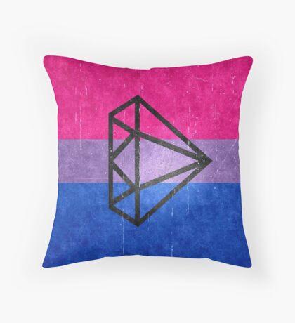 Bisexual Flag with diamond Throw Pillow