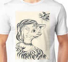 Nekomata. Princess cat design. Unisex T-Shirt