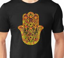 Fire Watercolor Hamsa Unisex T-Shirt