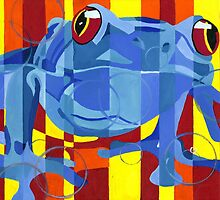 Primary Frog by cgreenpaintings