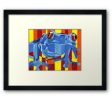 Primary Frog Framed Print