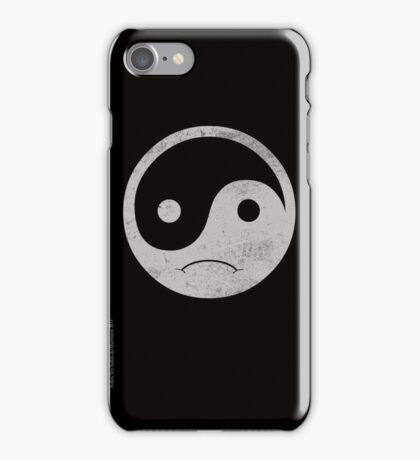yin yang smiley iPhone Case/Skin