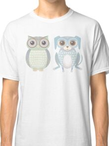 Cool Owl and Lanky Dog Classic T-Shirt