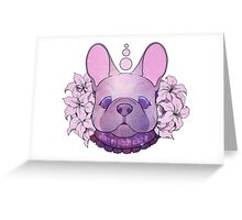 Galaxy Frenchie Greeting Card