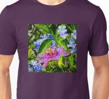 Passion Flower And Plumbago  Unisex T-Shirt