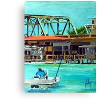 Last of the Carolina Swing Bridges Canvas Print
