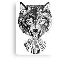 Save Your Self - Wolf Metal Print