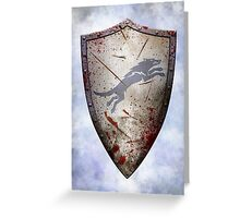 Stark Shield - Battle Damaged Greeting Card