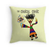 The Conical Comic Throw Pillow
