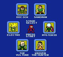 8-Bit Spider-Man Sinister Six Stage Select by 8 Bit Hero