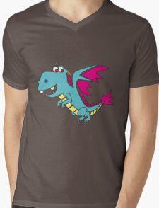 Doodle Dragon Mens V-Neck T-Shirt