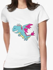 Doodle Dragon Womens Fitted T-Shirt