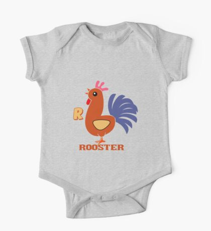 R is for Rooster One Piece - Short Sleeve