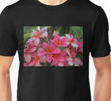 Painted Pink Plumeria Unisex T-Shirt