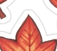 Autumn Leaves - Orange Set Sticker