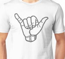 Hang Loose in Black and White Unisex T-Shirt