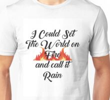 Red Queen Quote #1 Products Unisex T-Shirt