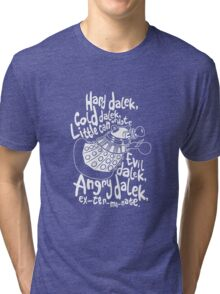 hard cold doctor who Tri-blend T-Shirt
