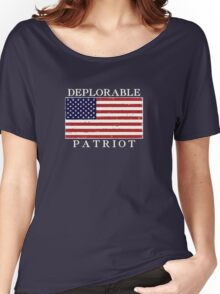 Deplorable Patriot (Light Letters) Women's Relaxed Fit T-Shirt